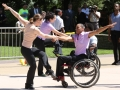 The Company of Dancing Wheels performs on ADA Day.