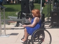 Mary Verdi-Fletcher speaks on ADA Day.